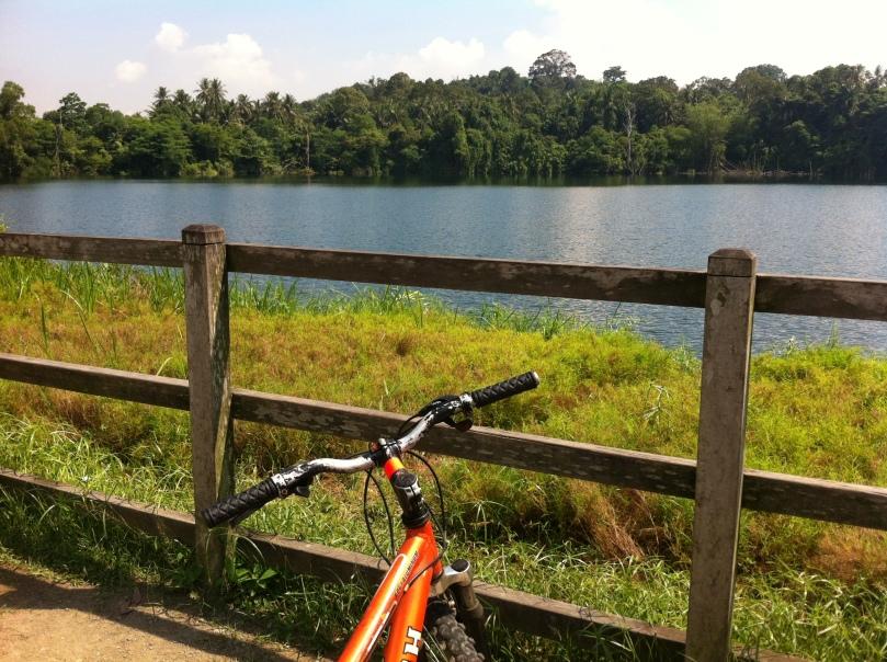 Biking in Pulau Ubin